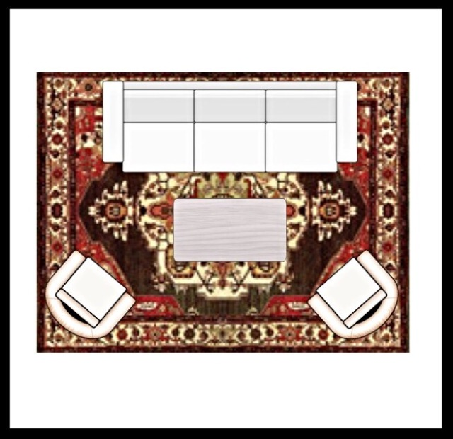 Choosing the right area rug size for your living space for Living spaces rugs